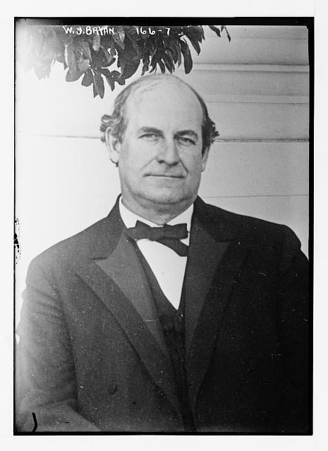 W.J. Bryan, portrait bust