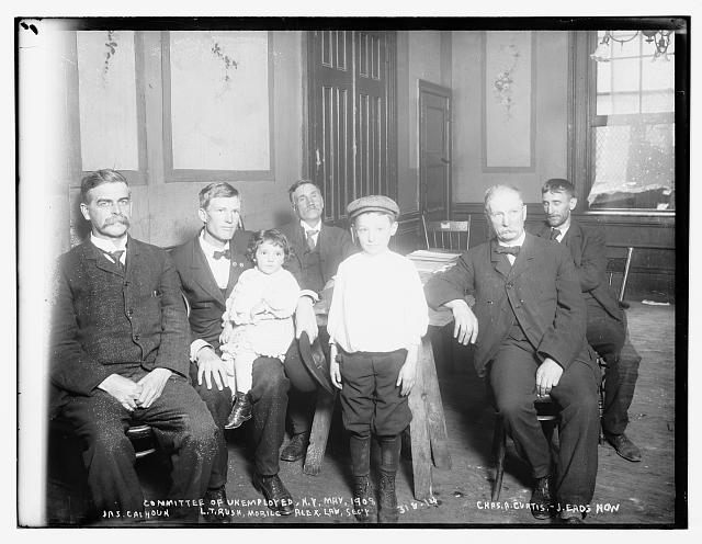 Committee of Unemployed, N.Y., 1908: Chas. A. Curtis, J . Eads How, Jas. Calhoun, L.T. Rush, Alex. Law, sec'y