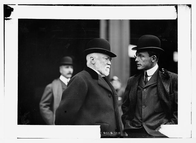 A. Carnegie, with unidentified gentleman