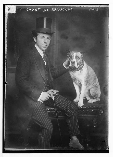 Count de Beaufort, with dog