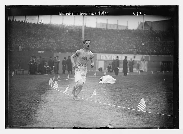 Maloney running in Shrubb-Dorando Marathon