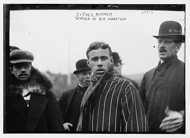 St. Yves, racer and winner of Shrubb-Dorando Marathon
