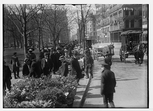 Shoppers at Easter Flower Market, Union Sq., New York