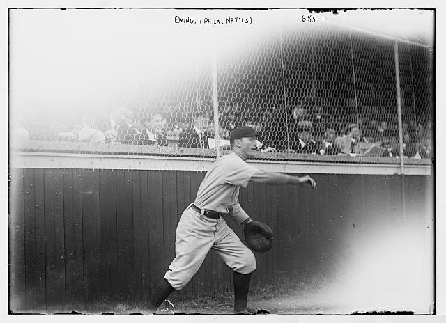 Ewing, ballplayer for Philadelphia Nationals, on field