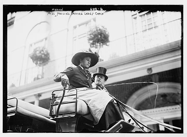 Miss Marion Hollins driving ladies coach, New York