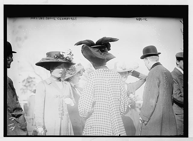 Mrs. Jas. Davis, with others, at Cedarhurst Cup Horse Show