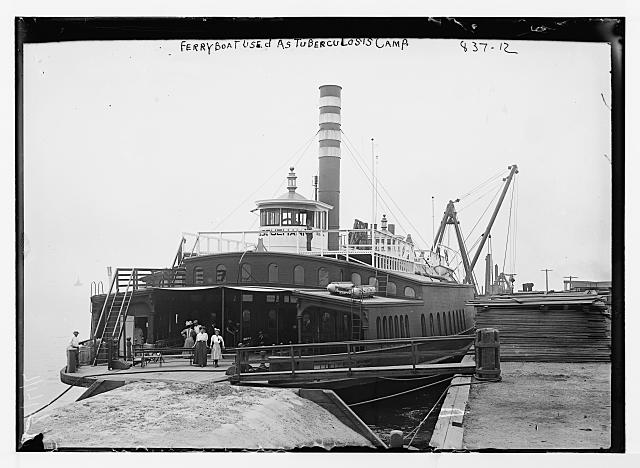 Ferryboat, used as a tuberculosis camp, exterior