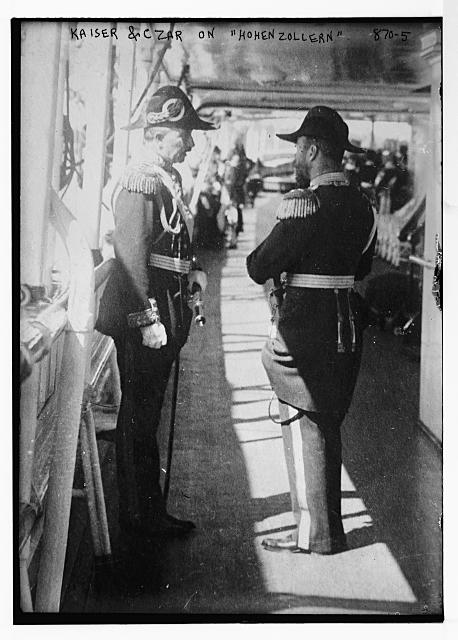 "Kaiser and Czar on ""Hohenzollern"""