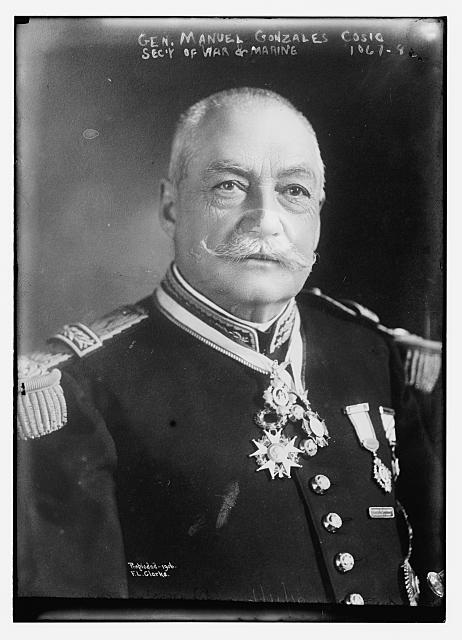 Gen. Manuel Gonzales Cosio, Sec. of War and Marine F.L. Clarke