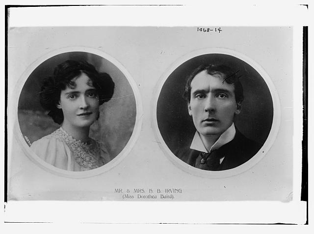 Mr. and Mrs. H.B. Irving (Miss Dorothea Baird)