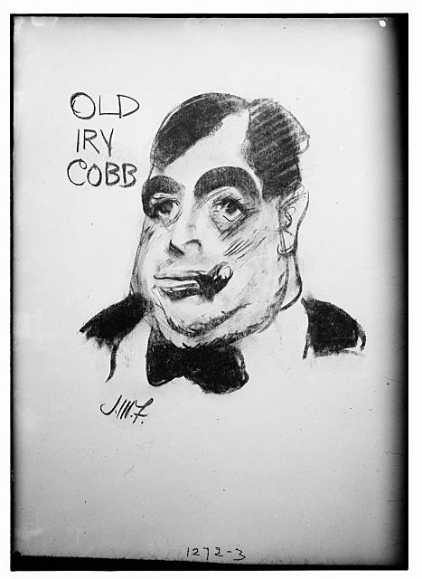 Old Irv Cobb (caricature) by J.M. Flagg