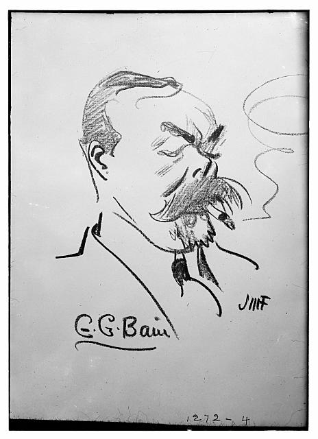 [George Grantham Bain (caricature) by J.M. Flagg]