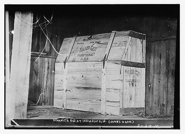 Dynamite box at Indianapolis, (Jones Barn)