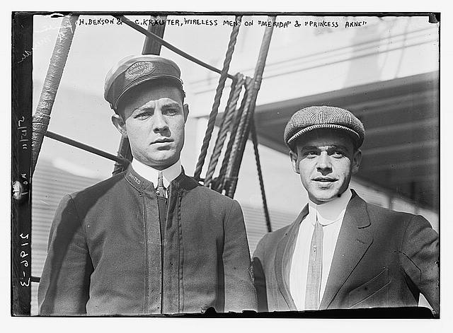 H. Benson & C. Krauter, wireless men on Merida & Princess Anne