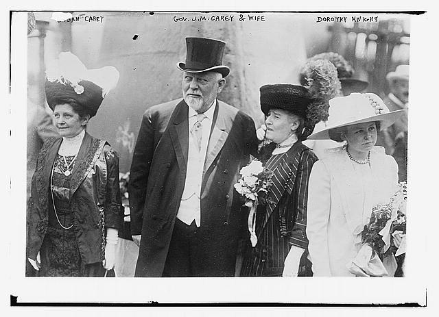 Susan Carey, Gov. J.M. Carey & wife, Dorothy Knight