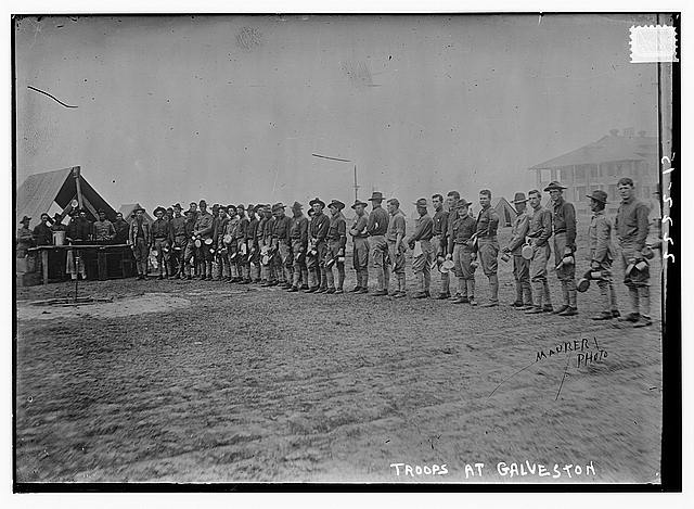 Troops at Galveston