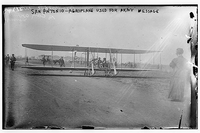 San Antonio Aeroplane used for army messages