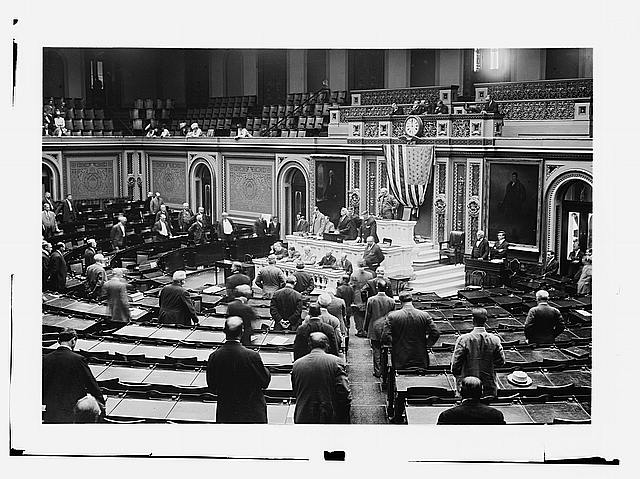 House in session. May 1911