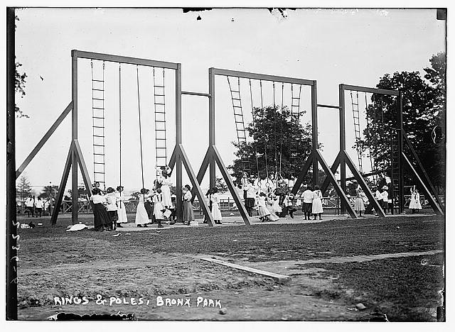 Rings and poles, Bronx Park