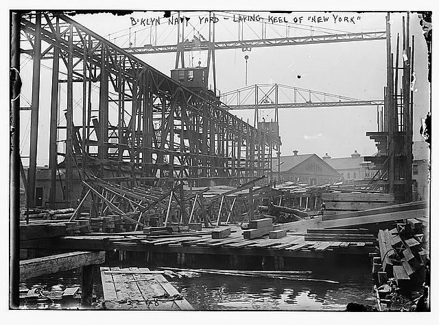 B'klyn Navy Yard-Laying Keel of NEW YORK