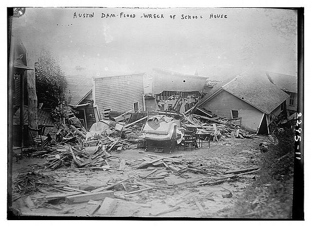 Austin/Dam Flood, wreck of School House