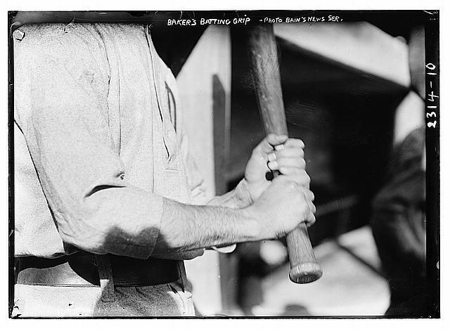[Frank &quot;Home Run&quot; Baker&#39;s batting grip]