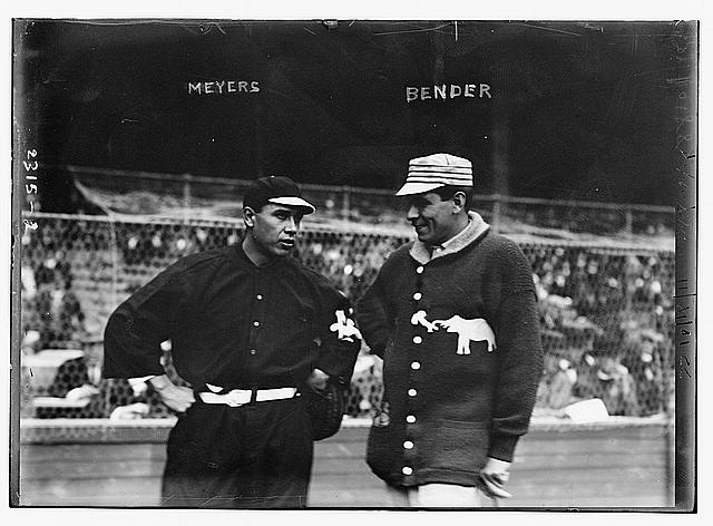 [Chief Meyers, New York, NL & Chief Bender, Philadelphia, AL at World Series (baseball)]