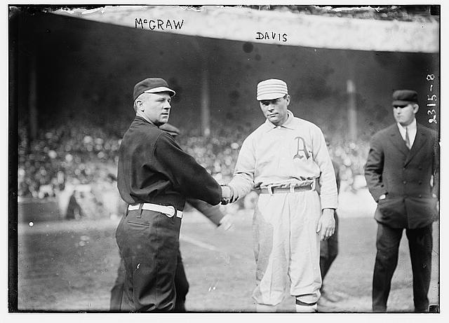 [John McGraw, New York, NL & Davis, Philadelphia, AL (baseball)]