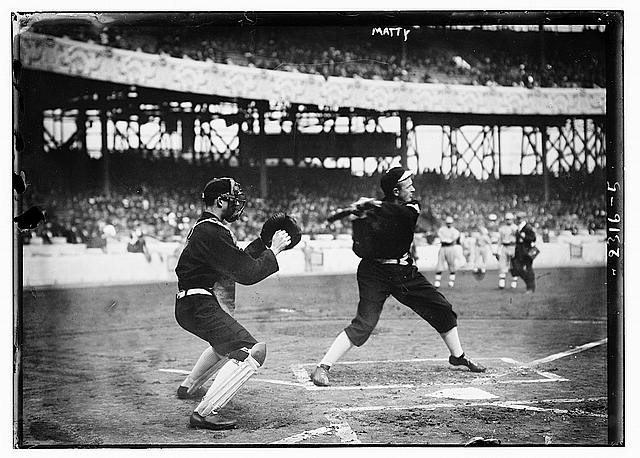 [Christy Mathewson, New York, NL - World Series batting practice (baseball)]