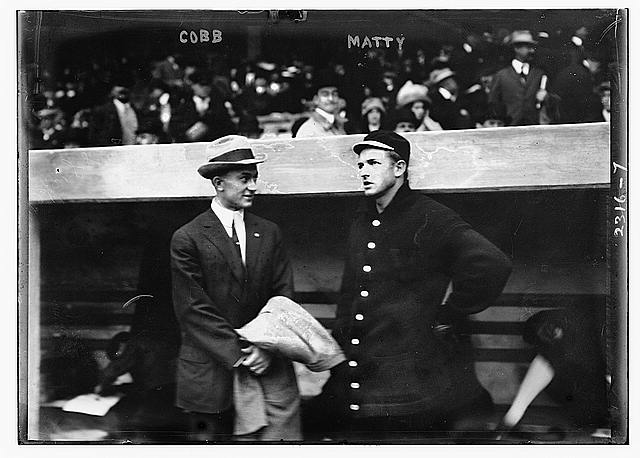 [Ty Cobb &amp; Christy Mathewson, New York, NL during World Series (baseball)]