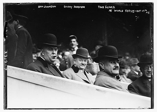 Ban Johnson, Garry Herrman, Thos. Lynch -- World Series N.Y.