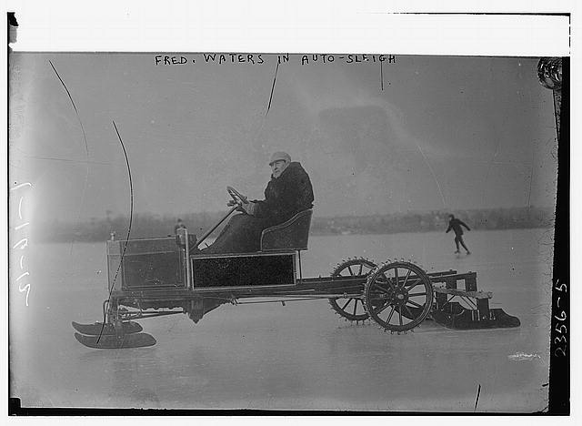 Fred Waters in Auto-Sleigh