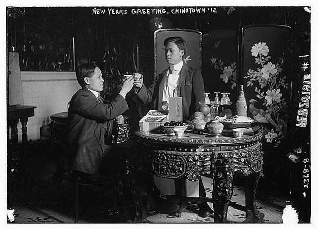 New Years Greeting, Chinatown 1912