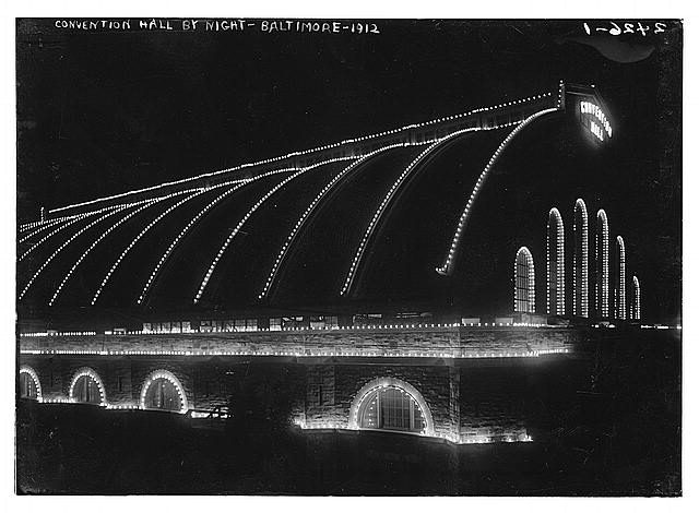 Convention Hall by night - Baltimore, 1912