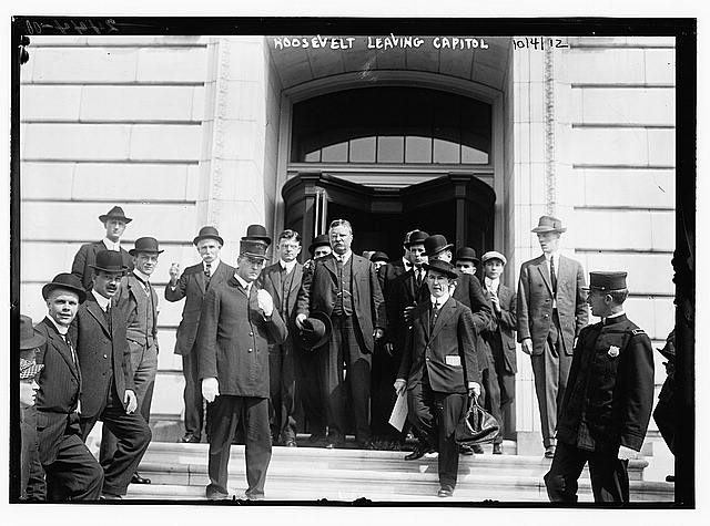 Roosevelt leaving Capitol