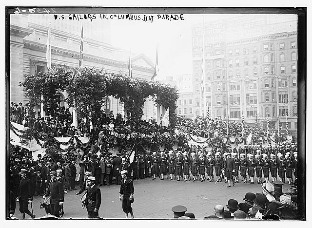 U.S. Sailors in Columbus Day Parade
