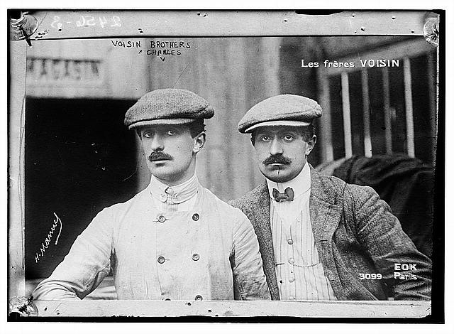 [The Voisin brothers, French aviation pioneers. Gabriel Voisin (1880-1973), on the left, and Charles Voisin (1882-1912), on the right]