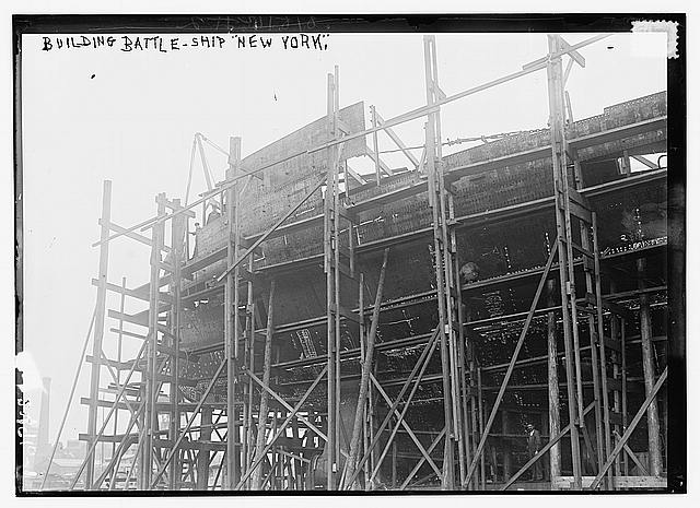 Bldg. Battle-ship NEW YORK