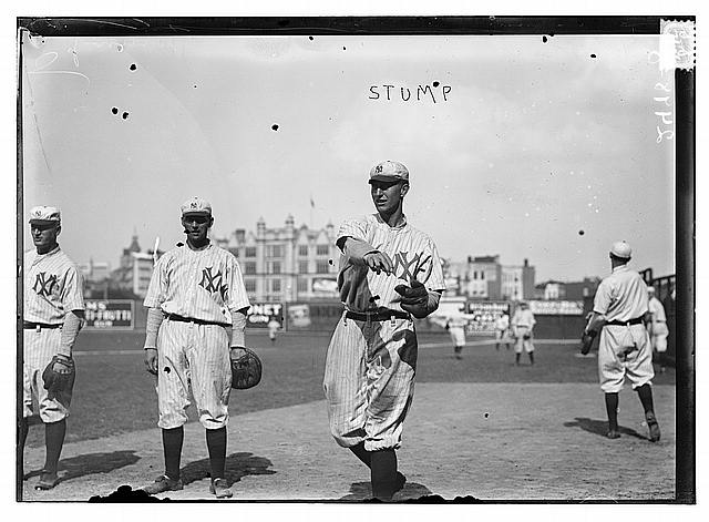 [Bill Stumpf, New York Highlanders, AL, at Hilltop Park, NY (baseball)]