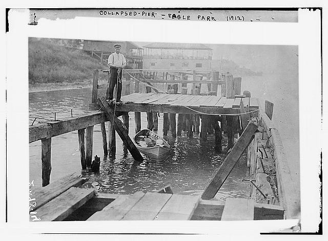 Collapsed Pier, Eagle Park 1912