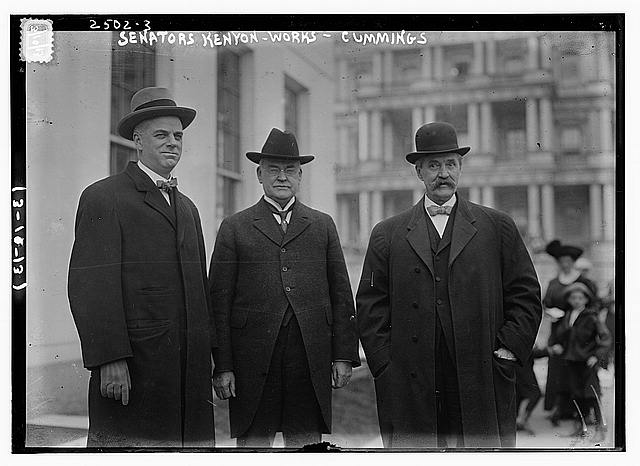 Senators Kenyon, Works, and Cummings [i.e., Cummins]