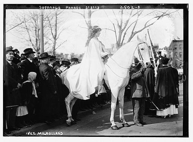 Suffrage parade, Inez Milholland