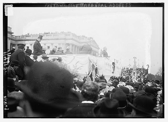 Pres't. Wilson's Inaugural address