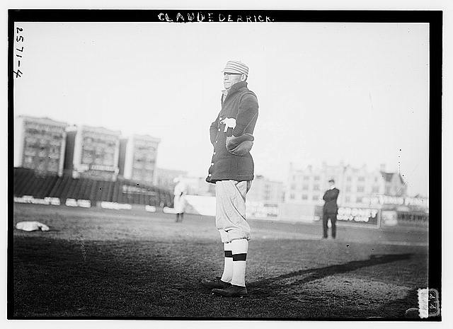 [Claud Derrick, Philadelphia AL, at Hilltop Park, NY (baseball)]