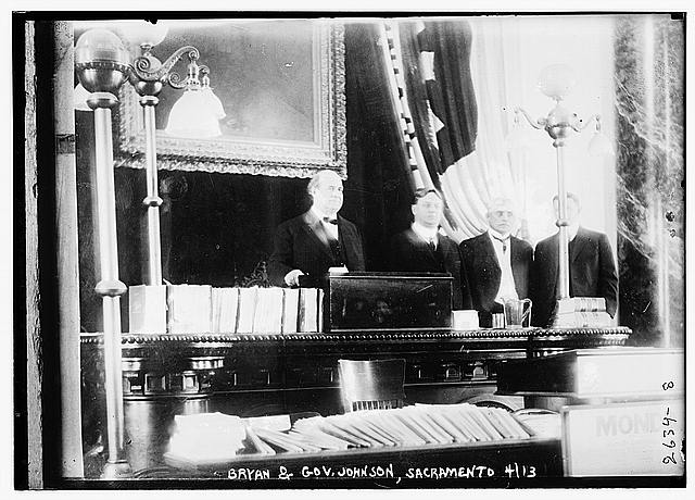 Bryan &amp; Gov. Johnson, Sacramento, Calif.