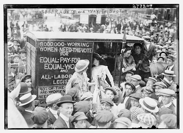 Suffragettes on way to Boston