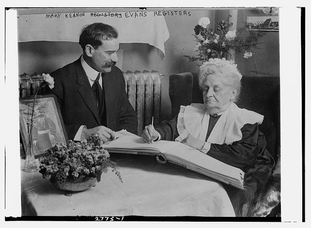 Mary Kennon Evans registers