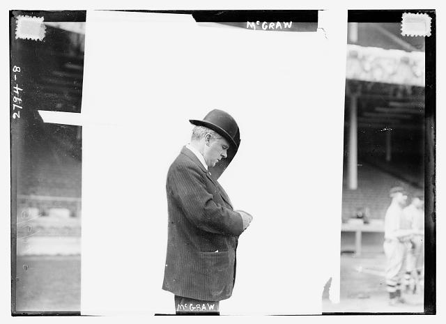[John McGraw, manager of the New York Giants at the Polo Grounds, New York (baseball)]
