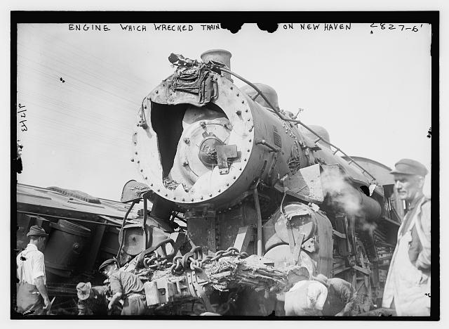 Engine which wrecked train on New Haven