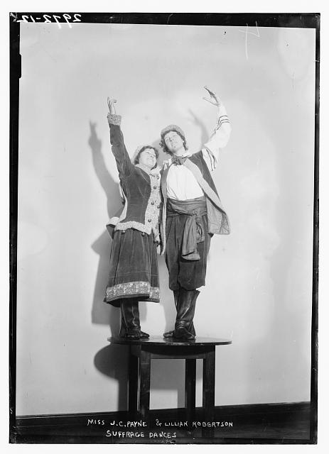 Miss J.C. Payne and Lillian Robertson Suffrage Dances